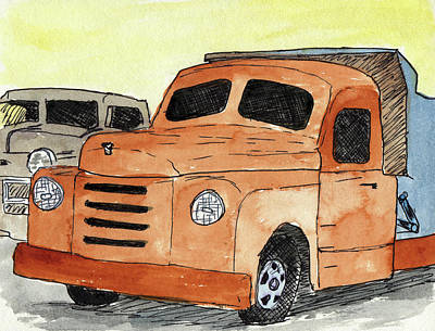 Mixed Media - Old Truck by R Kyllo