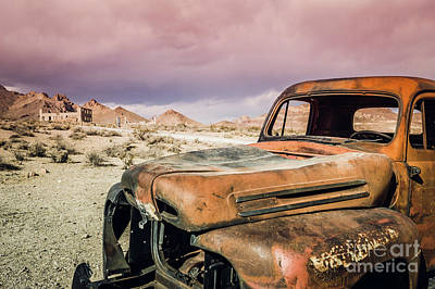 Photograph - Old Truck Rhyolite Ghost Town Outside Of Death Valley by Blake Webster