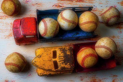 Photograph - Old Trucks And Baseballs by Garry Gay