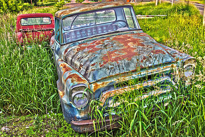Photograph - Old Trucks by David Ralph Johnson
