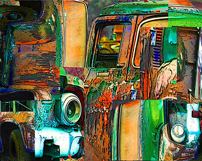 Old Trucks Digital Art - Old Trucks by Robert Meanor