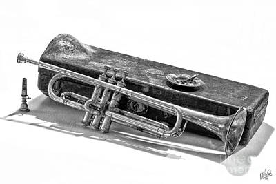 Art Print featuring the photograph Old Trumpet by Walt Foegelle