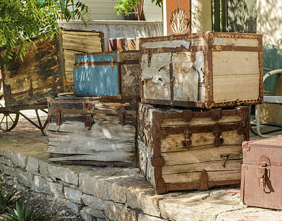 Photograph - Old Trunks by Allen Sheffield