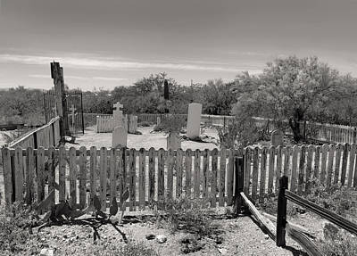 Old Tucson Graveyard Art Print by Gordon Beck