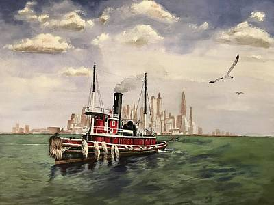 Painting - Old Tugboat by Rob Peters