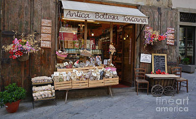 Photograph - Old Tuscan Deli by Frank Stallone