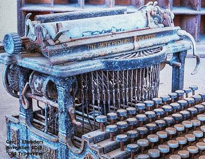 Old Typewriter H A Print by Gert J Rheeders