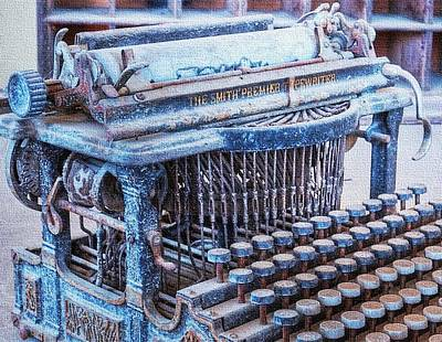 Old Typewriter H B Print by Gert J Rheeders
