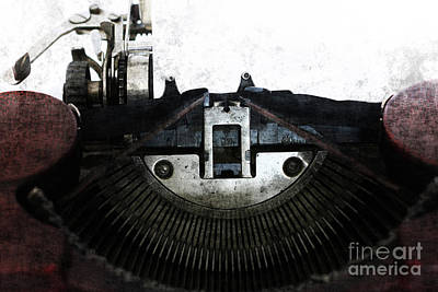Photograph - Old Typewriter Machine In Grunge Style by Michal Boubin