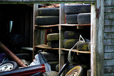 Photograph - Old Tyres by Nareeta Martin