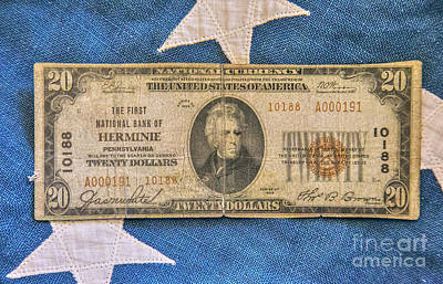 Digital Art - Old Us Currency Gold Certificate Two by Randy Steele