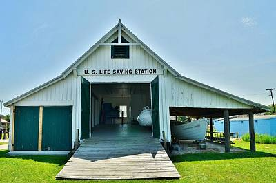 Photograph - Historic U.s. Lifesaving Station Boathouse At Lewes Delaware by Kim Bemis