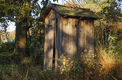 Old Valley Forge Outhouse Print by Bill Cannon