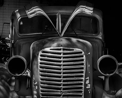 Photograph - Old Vehicle X Bw by David Gordon