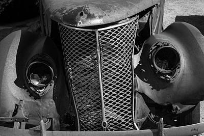 Photograph - Old Vehicle Xi Bw by David Gordon