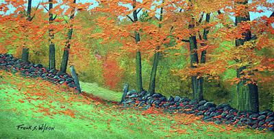 Painting - Old Vermont Wall by Frank Wilson