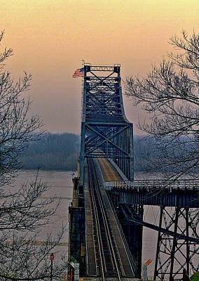 Digital Art - Old Vicksberg Bridge Of Mississippi by Bonnie Willis