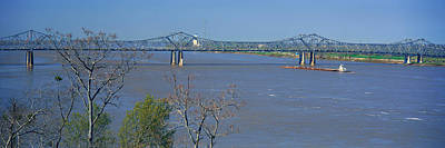 Historic Bridge Photograph - Old Vicksburg Bridge Crossing Ms River by Panoramic Images
