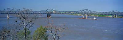 Old Vicksburg Bridge Crossing Ms River Art Print by Panoramic Images