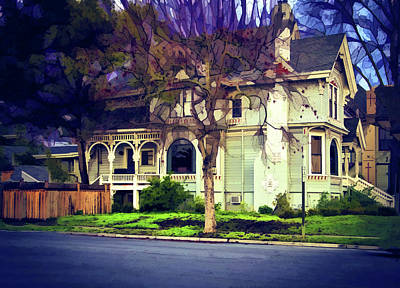 Victorian Town Digital Art - Old Victorian by Terry Davis