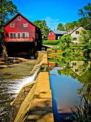 Old Mill Scenes Photograph - Old Village Grist Mill by Colleen Kammerer
