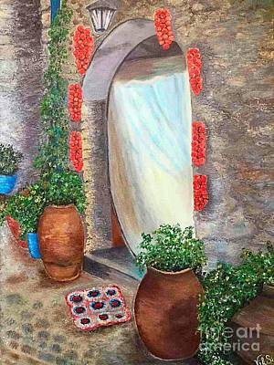 Old Village In Chios Greece  Art Print by Viktoriya Sirris