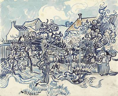 Painting - Old Vineyard With Peasant Woman Auvers Sur Oise May 1890 Vincent Van Gogh 1853  1890 by Artistic Panda