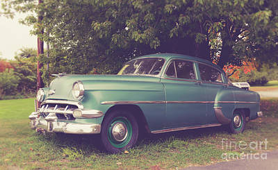 Photograph - Old Vintage American Car by Edward Fielding