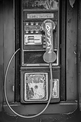 Photograph - Old Vintage Coin Operated Phone Booth by Randall Nyhof
