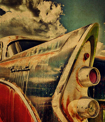 Old Vintage Dodge Coronet Rear View Art Print by Design Turnpike