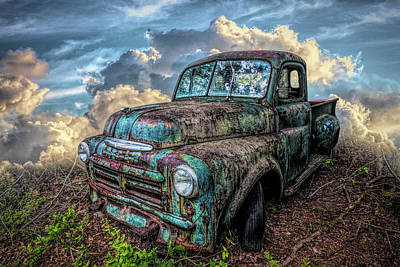 Photograph - Old Vintage Dodge Truck In Hdr Detail by Debra and Dave Vanderlaan