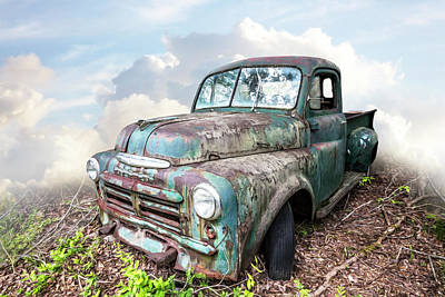 Photograph - Old Vintage Dodge Truck Painting by Debra and Dave Vanderlaan