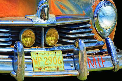 Photograph - Old Vintage Hudson Automobile by Randall Nyhof