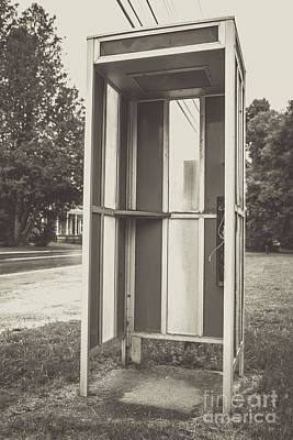 Photograph - Old Vintage Phone Booth Northeast Kingdom Vermont by Edward Fielding
