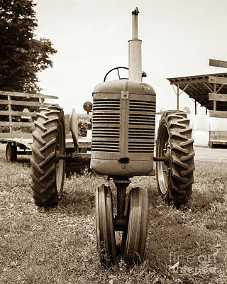 Machinery Photograph - Old Vintage Tractor Cornish New Hampshire by Edward Fielding