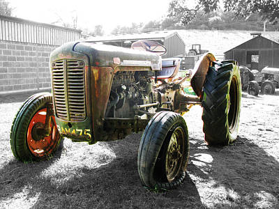 Photograph - Old Vintage Tractor Farm Machinery by Tom Conway