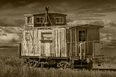 Old Vintage Train Caboose Art Print by Randall Nyhof