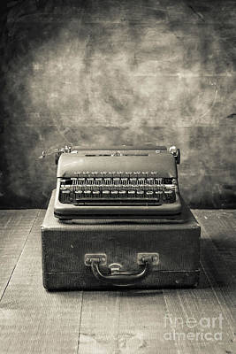 Photograph - Old Vintage Typewriter  by Edward Fielding