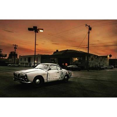 Hollywood Wall Art - Photograph - #old #vintage #vintagecar #sunset by Andrei Andries