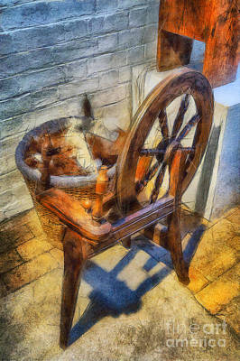 Handmade Icon Photograph - Old Vintage Wheel by Ian Mitchell