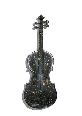 Photograph - Old Violin With Painted Symbols by Tom Conway