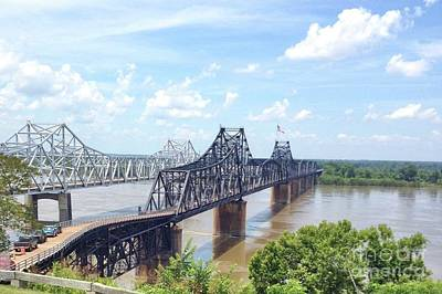 Photograph - Old Vs New Bridges Over Mississippi by Janette Boyd