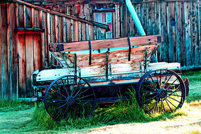 Digital Art - old Wagon In Bodie by Joseph Coulombe