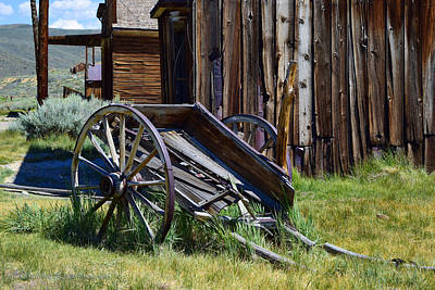 Photograph - Old Wagon, Old Barn by Sandra Lynn