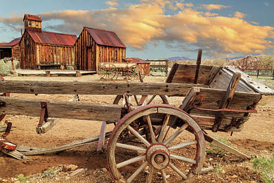 Photograph - Old Wagon Out West by James Eddy