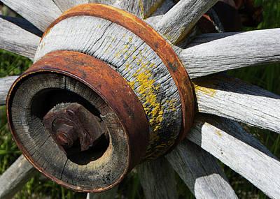 Photograph - Old Wagon Wheel by Doug Matthews