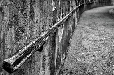 Art Print featuring the photograph Old Wall And Handrail by Stuart Litoff