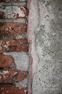 Photograph - Old Wall Detail by Elena Elisseeva