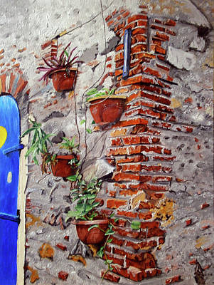 The Doors Poster Painting - Old Wall by Maria Woithofer