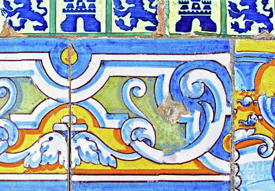 Photograph - Old Wall Tiles by Ethna Gillespie